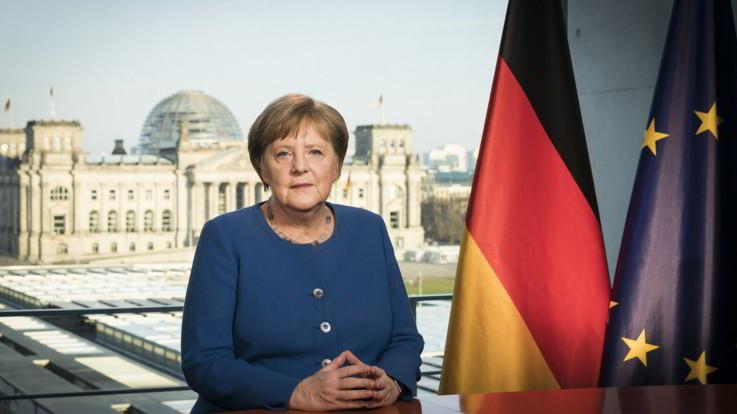 """Coronavirus, Merkel: """"Il Paese si trova davanti a una sfida come mai successo dalla Seconda Guerra Mondiale"""""""