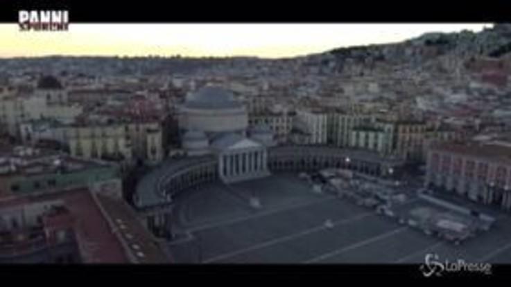 Coronavirus, Luca Zingaretti legge Ungaretti sulle immagini di una Napoli deserta