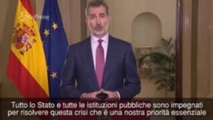 """L'appello del re di Spagna: """"Ora dobbiamo essere tutti uniti per sconfiggere il coronavirus"""""""
