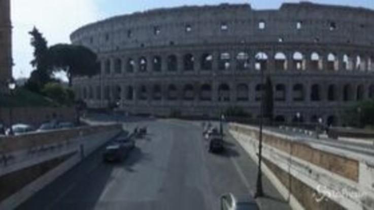 Coronavirus, il timelapse di una Roma deserta