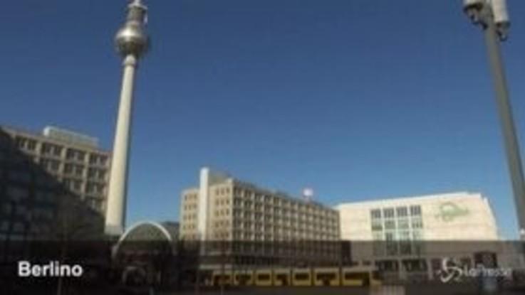 Coronavirus, strade deserte a Berlino e Francoforte