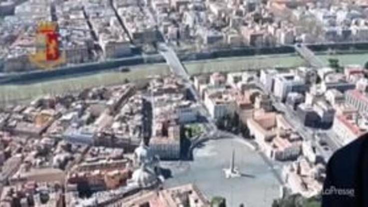 Coronavirus, Roma: elicotteri della Polizia sorvegliano le strade