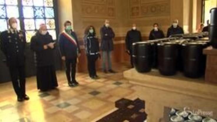 Coronavirus, Bergamo: tornate le urne di 113 defunti