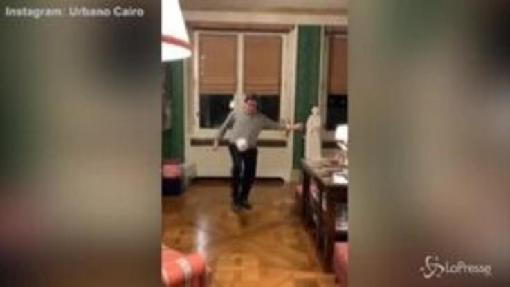 "Coronavirus, Urbano Cairo partecipa alla ""Stay at home challenge"""