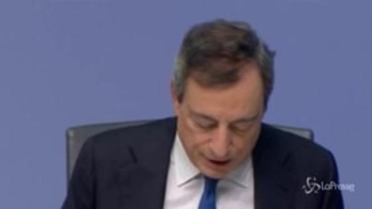 """Coronavirus, Draghi: """"La priorità è difendere il lavoro"""""""