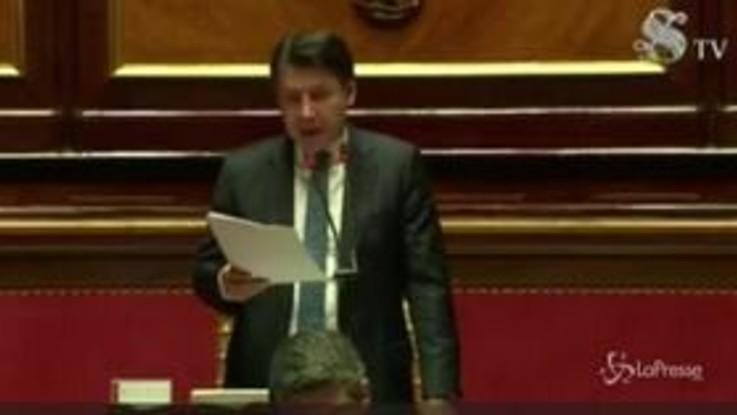 """Coronavirus, Conte in Senato: """"Intenso confronto con opposizioni per decreto aprile"""""""