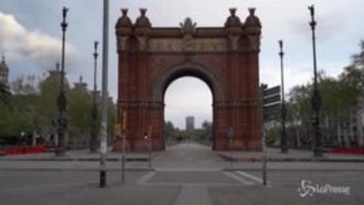 Barcellona deserta per il lockdown, il time-lapse è da brividi