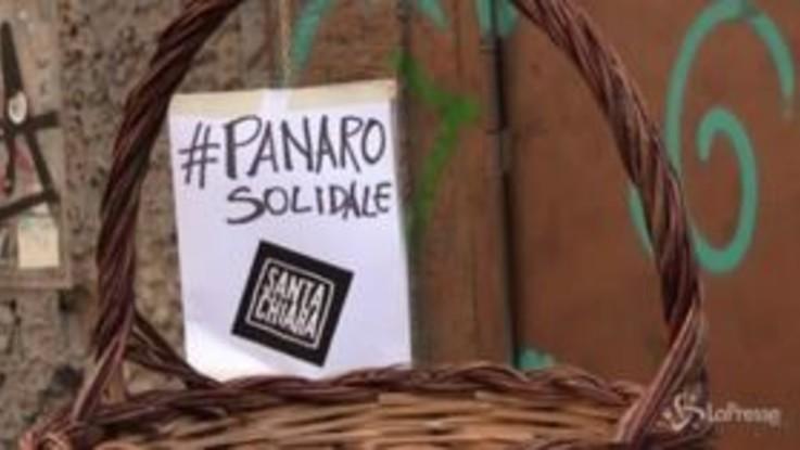 """Coronavirus, a Napoli il 'panaro' solidale """"Chi può metta, chi non può prenda"""""""