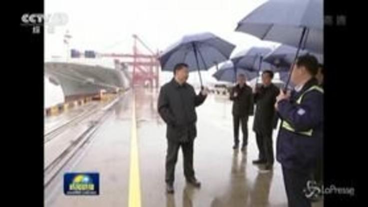 Cina, il presidente Xi Jinping visita l'area portuale di Chuanshan