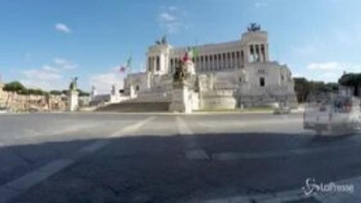 Coronavirus, Roma deserta vista in timelapse video