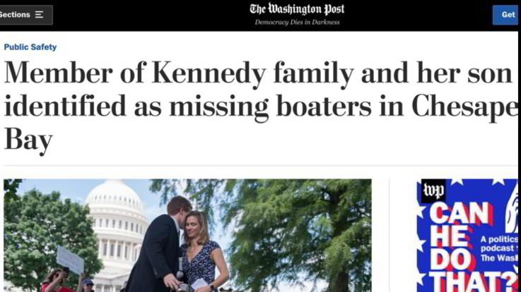 Usa, scomparsa la nipote di Bob Kennedy: sospese le ricerche di Maeve Kennedy Townsend McKean