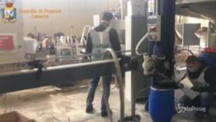 Coronavirus, Caserta: sequestrati oltre 9.000 litri di disinfettante