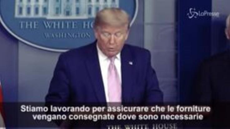 """Coronavirus, Trump: """"Avremo molti morti e ci aspettano decisioni difficili"""""""