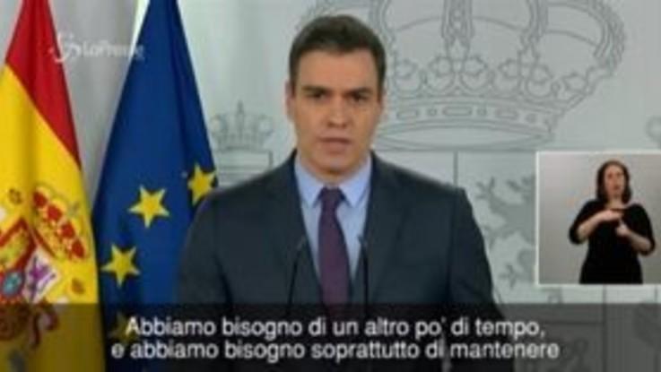 """Coronavirus, Sanchez: """"La Spagna inizia a vedere la luce alla fine del tunnel"""""""