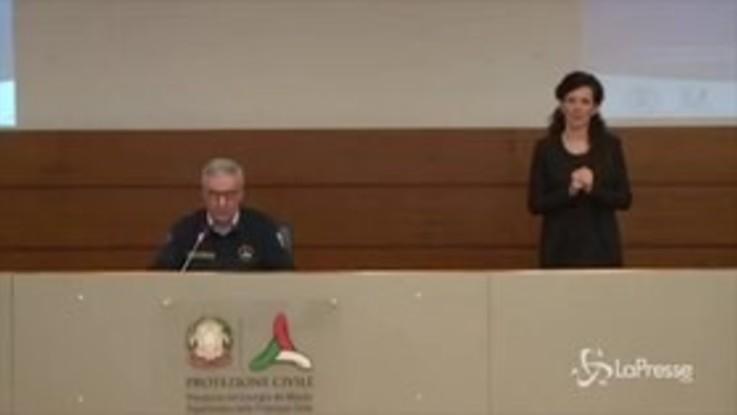 """Coronavirus, Borrelli: """"Numero decessi più basso dal 19 marzo"""""""