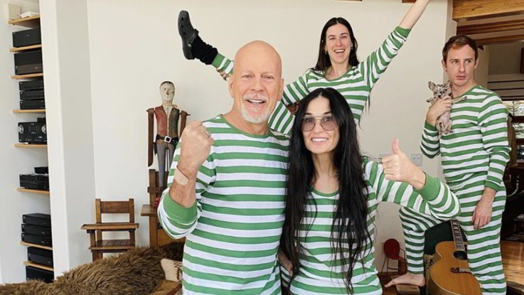 Coronavirus, Demi Moore 'carcerata' insieme all'ex marito Bruce Willis e famiglia