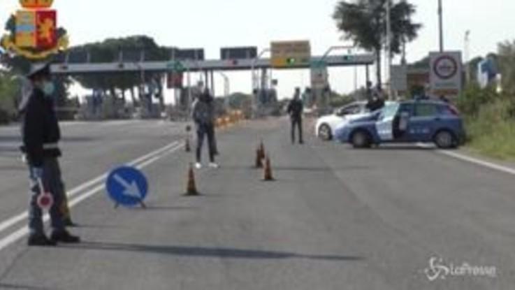 Coronavirus, Bari: controlli serrati della polizia
