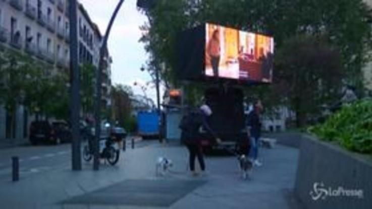 Madrid, cinema all'aperto per i cittadini