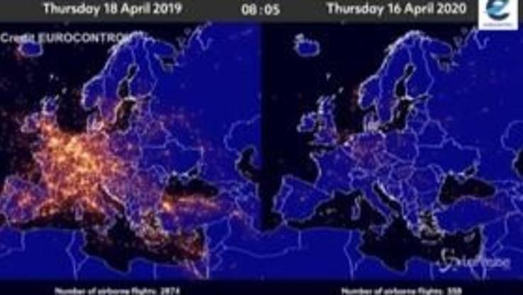 Coronavirus, come la pandemia ha cambiato il traffico aereo