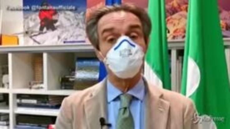 "Coronavirus, Fontana: ""Pronti 80 milioni come bonus a operatori sanitari lombardi"""