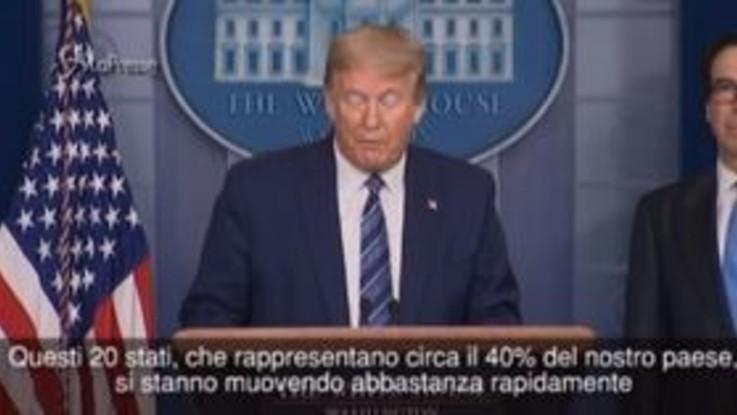 """Coronavirus, Trump: """"Venti Stati sono pronti a riaprire"""""""