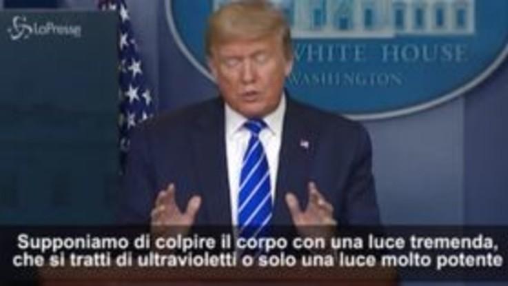 """Coronavirus-USA, Trump: """"Iniezioni di disinfettante contro virus"""". Comunità scientifica: irresponsabile"""