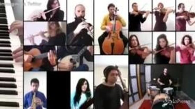 25 Aprile, spopola sui social il video orchestrale di 'Bella Ciao' in onore a medici e infermieri