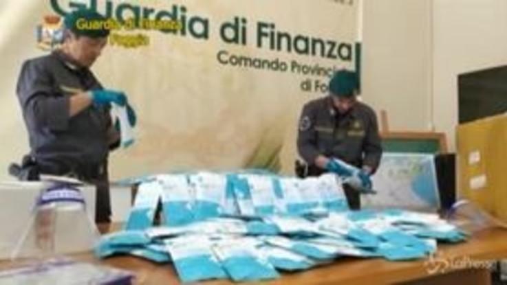 Coronavirus, sequestrate oltre 26mila mascherine a Foggia