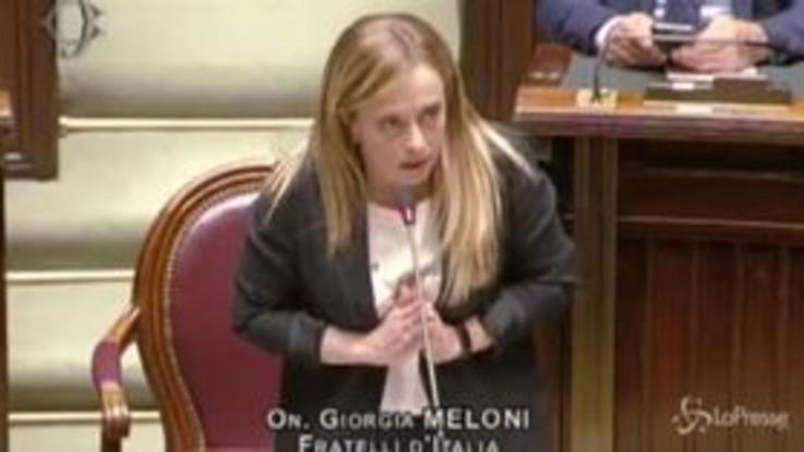"""Meloni a Conte: """"Criticava Salvini e ora chiede pieni poteri"""""""