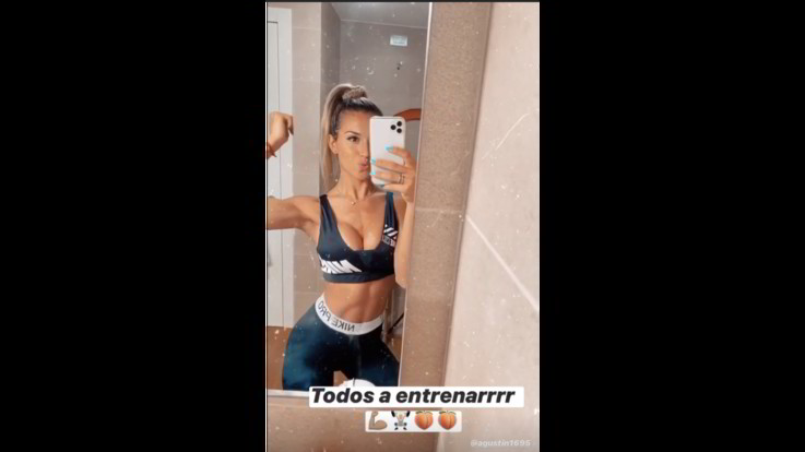 Sexy-Instagram, Tutti ad allenarsi con la sexy wag Agustina Gandolfo
