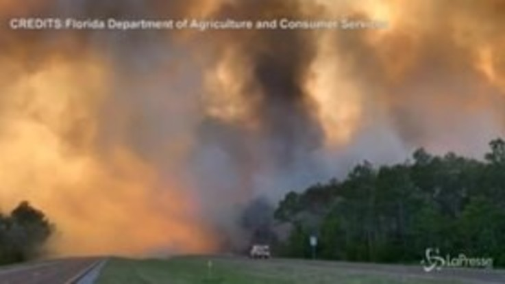Usa, vasto incendio in Florida: cittadini evacuati nella Contea di Santa Rosa