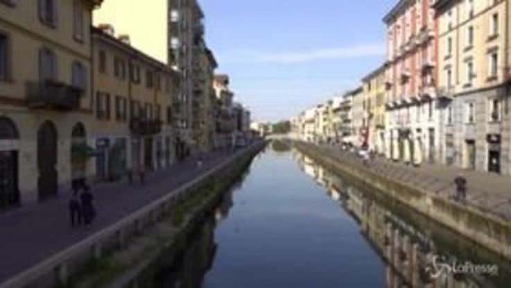 Milano, Navigli semideserti dopo le polemiche