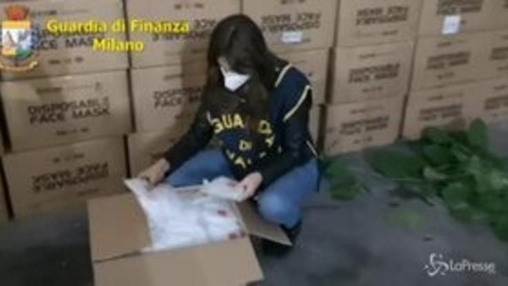 Milano, Guardia di Finanza sequestra 360 mila mascherine