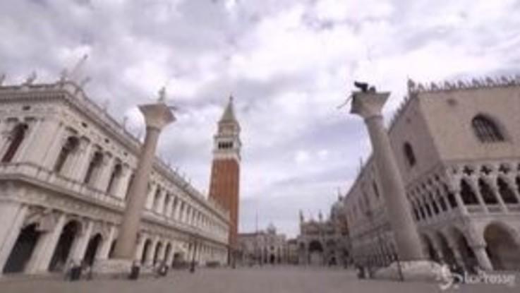 Coronavirus: Venezia torna lentamente a vivere, il timelapse della città