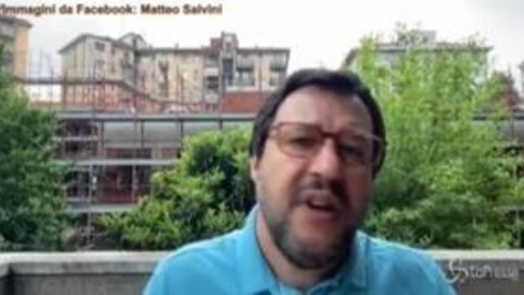 """Coronavirus, Salvini: """"Nessuno pensi di tenere ancora in ostaggio Italia"""""""