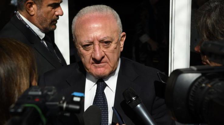 """Fase 2, De Luca: """"Campania non ha firmato intesa governo, scarico su Regioni"""""""