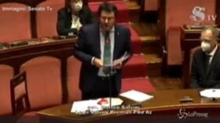 """Coronavirus, Salvini interrotto in Senato: """"Vada a ridere a Villa Borghese"""""""