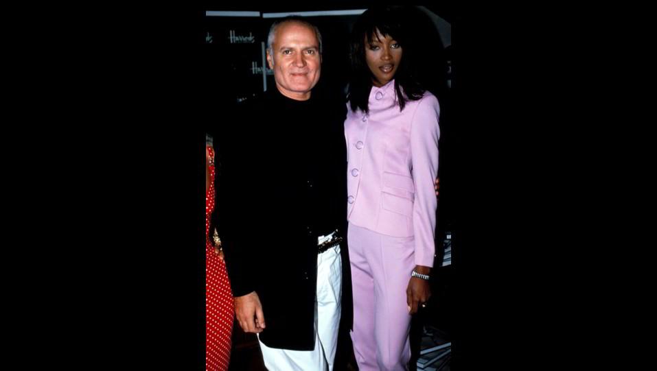 Naomi Campbell con Gianni Versace ©