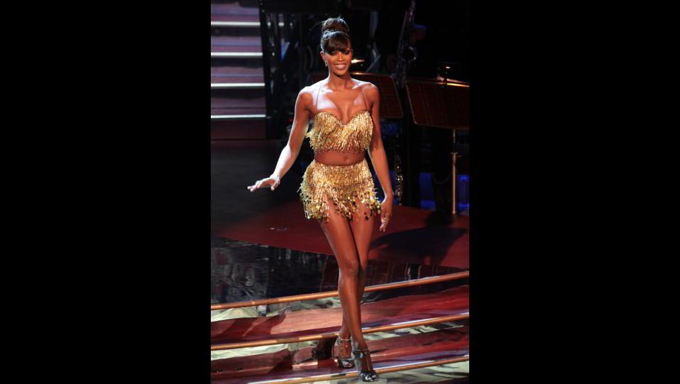 Naomi Campbell nel 2007 a Ballando con le Stelle ©