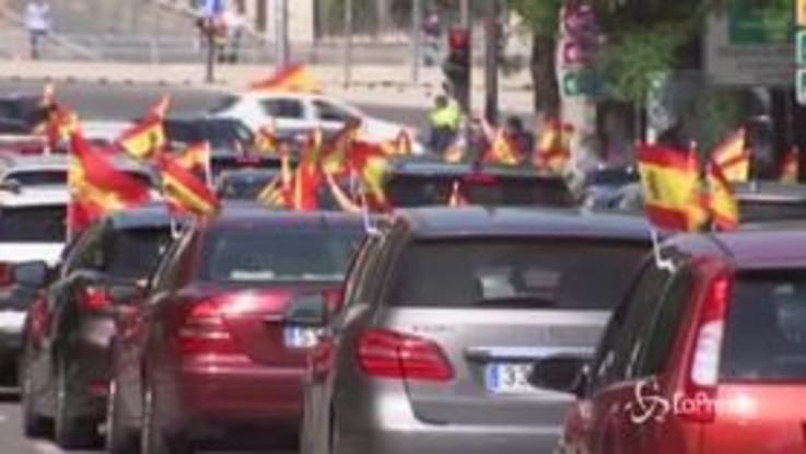 Spagna, proteste dell'estrema destra contro il governo Sanchez