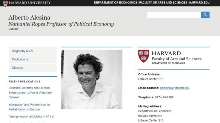 Morto l'economista ed editorialista Alberto Alesina