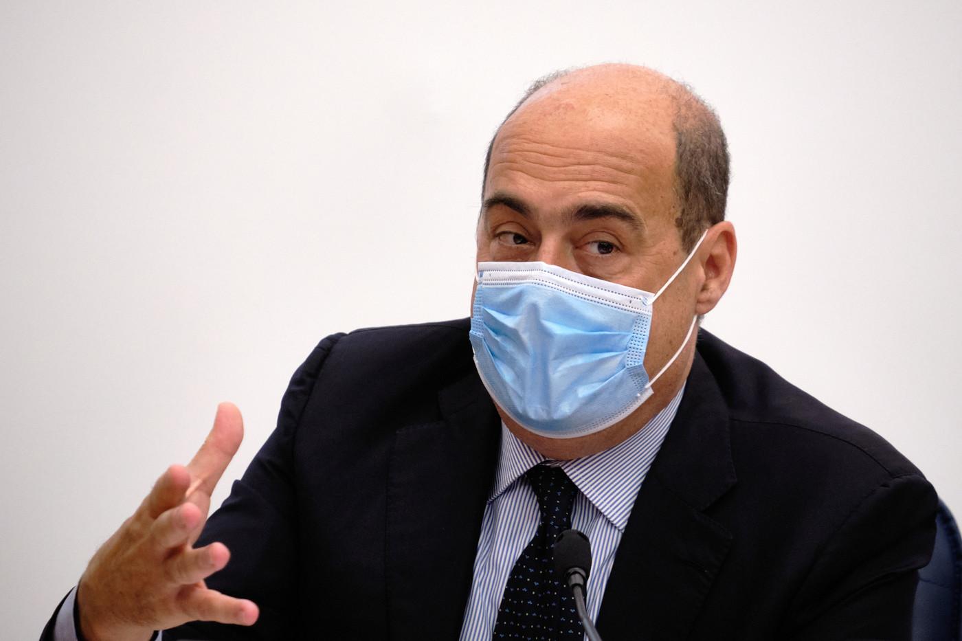 Il segretario del Pd Zingaretti