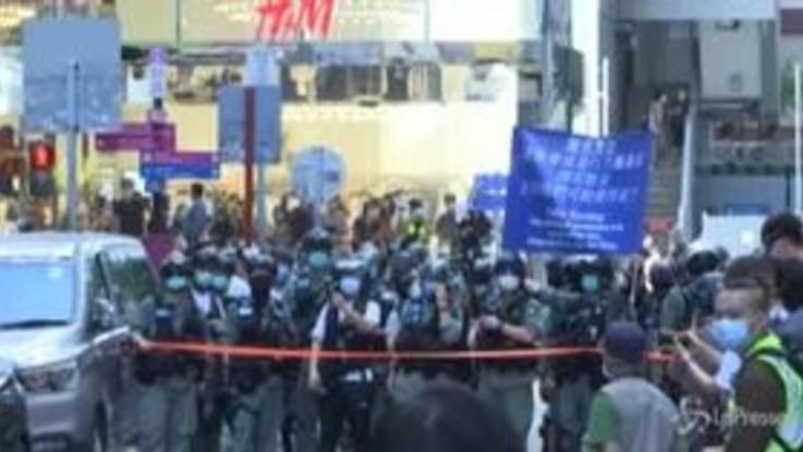 Hong Kong, protesta contro legge su sicurezza nazionale