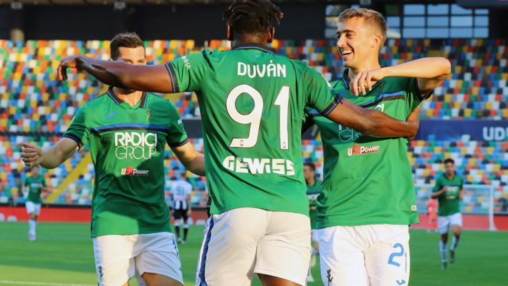 Atalanta vola con Muriel-Zapata: non basta Lasagna all'Udinese