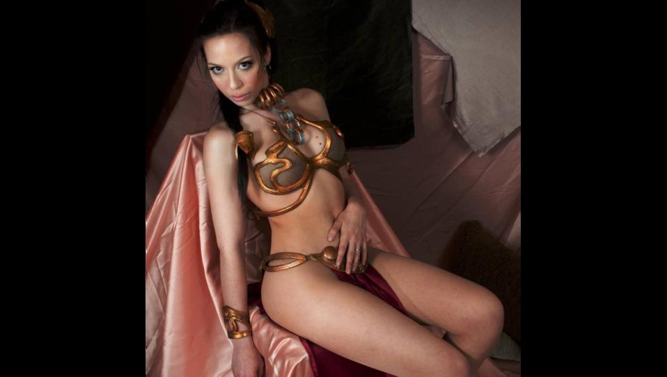 La cosplay Sbabby nel panni della regina Leila di Star Wars (fonte Instagram) ©