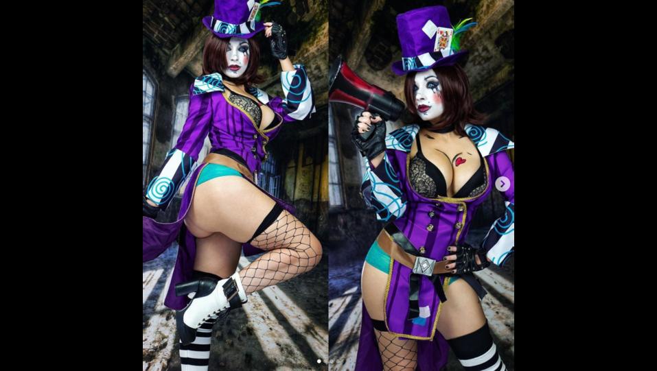 La cosplay Giada Robin nei panni del personaggio dei videogiochi Mad Moxxi (fonte Instagram) ©