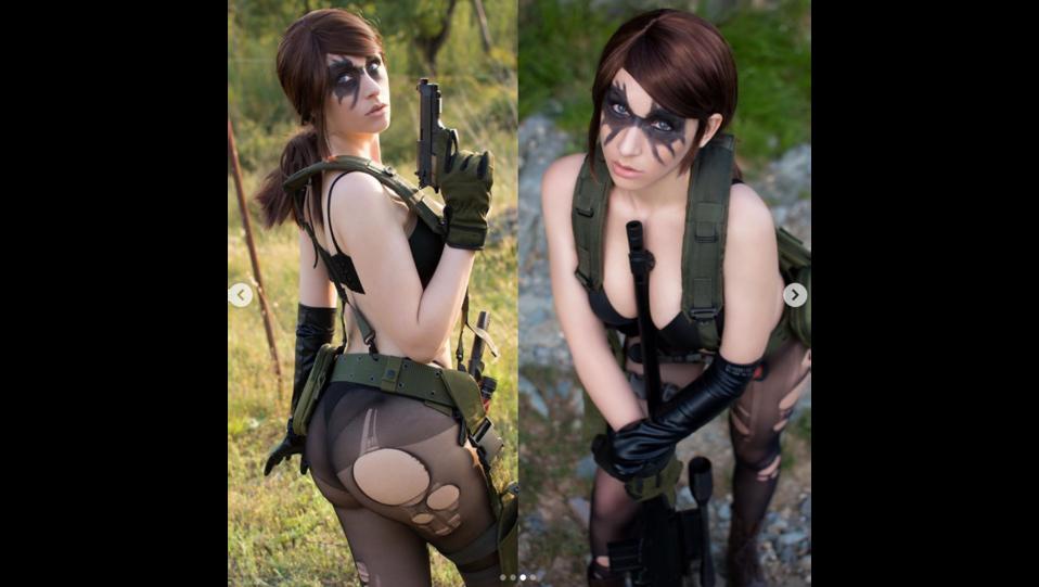 La cosplay Giada Robin nei panni del personaggio dei videogiochi Quiet del videogioco Metal Gear (fonte Instagram) ©