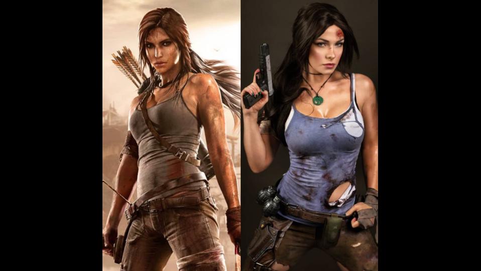 La cosplay Irina Meier nei panni del personaggio Lara Croft di Tomb Raider (fonte Instagram) ©