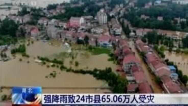 Inondazioni in Cina, sott'acqua 22 città nella provincia di Hubei