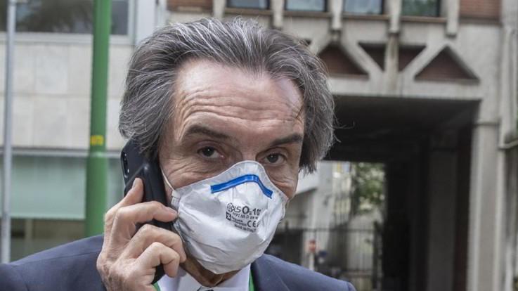 """Fontana: """"In Lombardia mascherina obbligatoria fino al 14 luglio"""""""